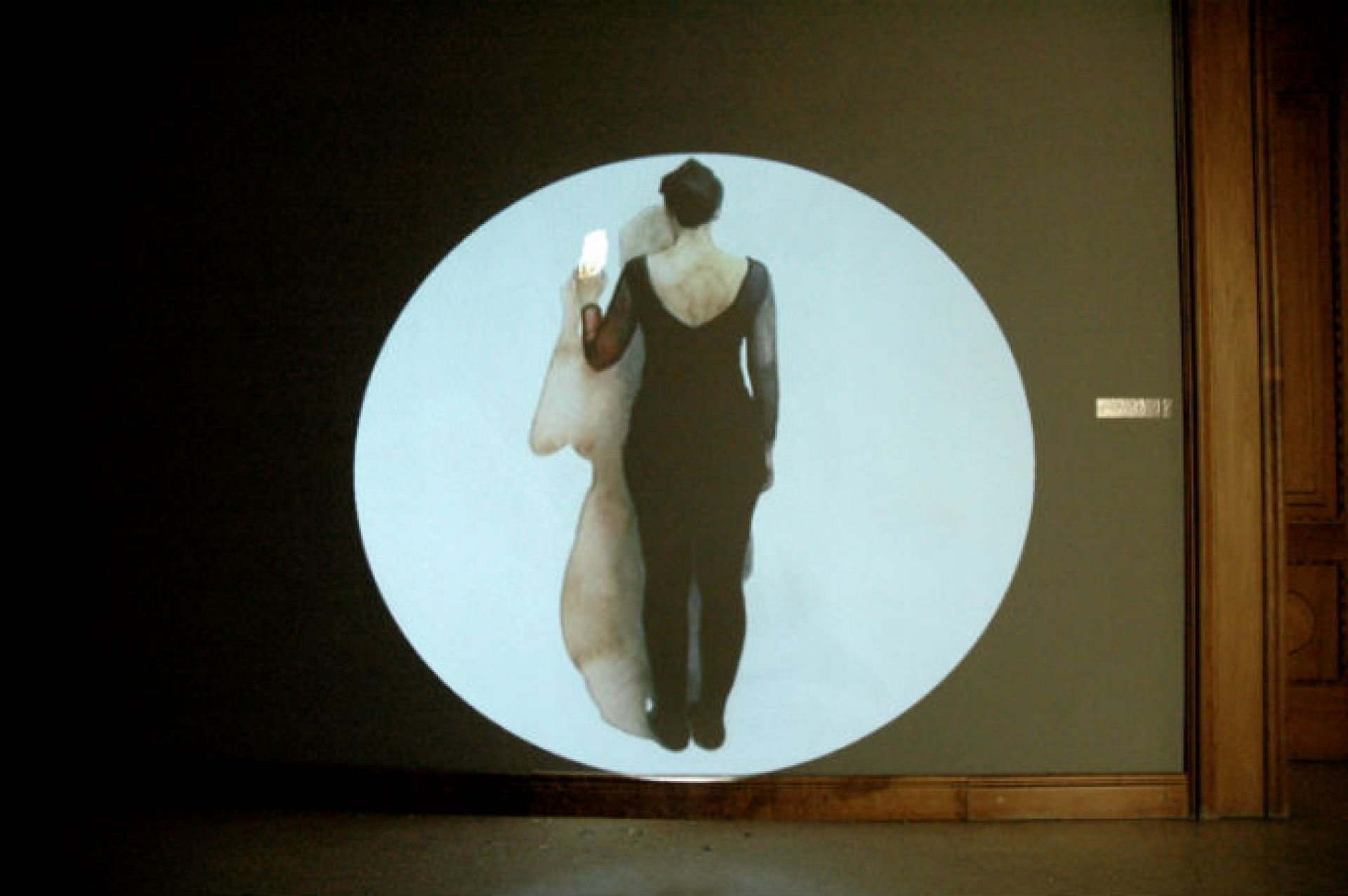 <Memento / 2012 / projected watercolor animation (0:00:05)/ approx: 70cm x 170cm>